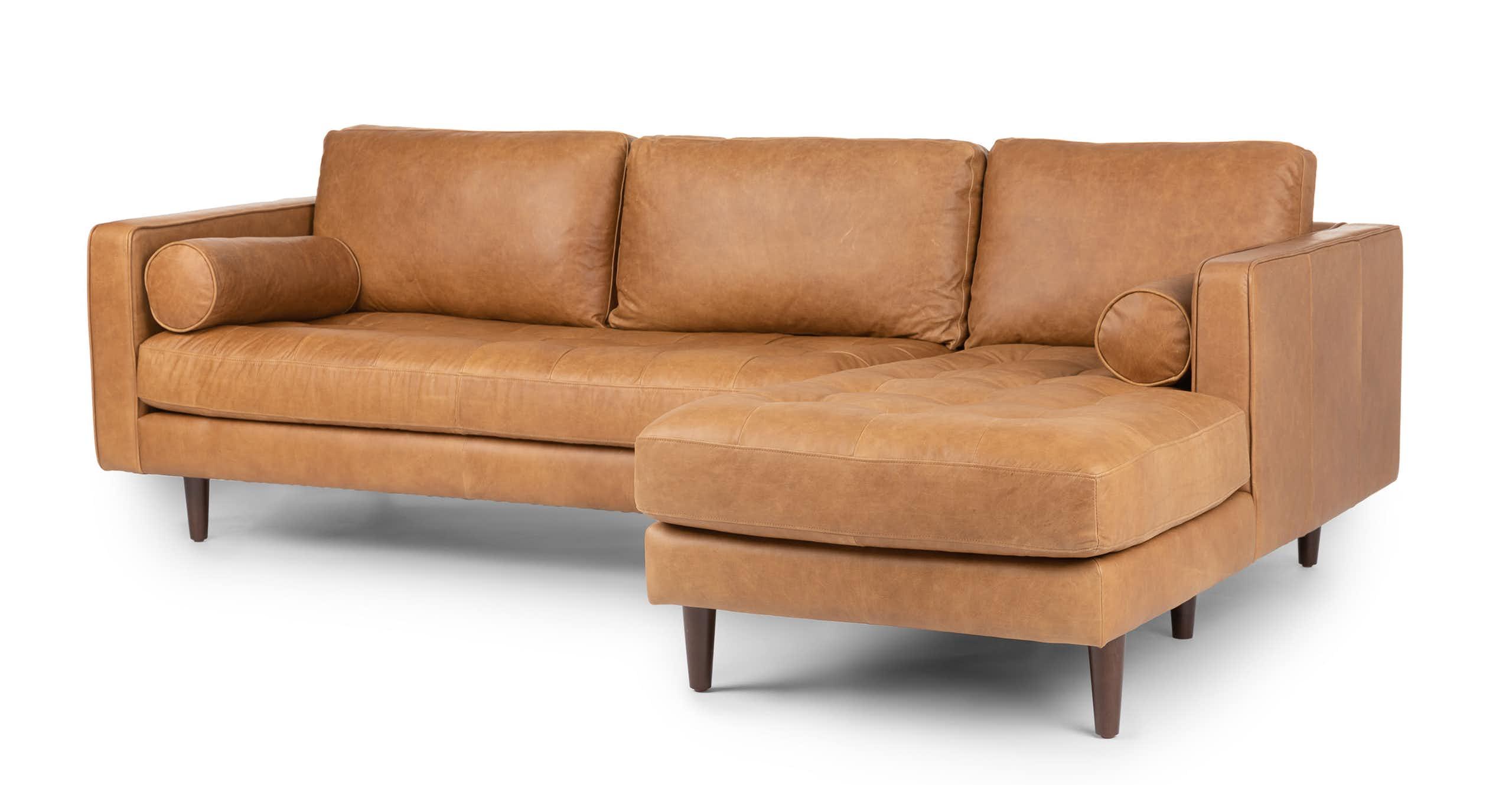Sven Right Sectional Sofa, Charme Tan