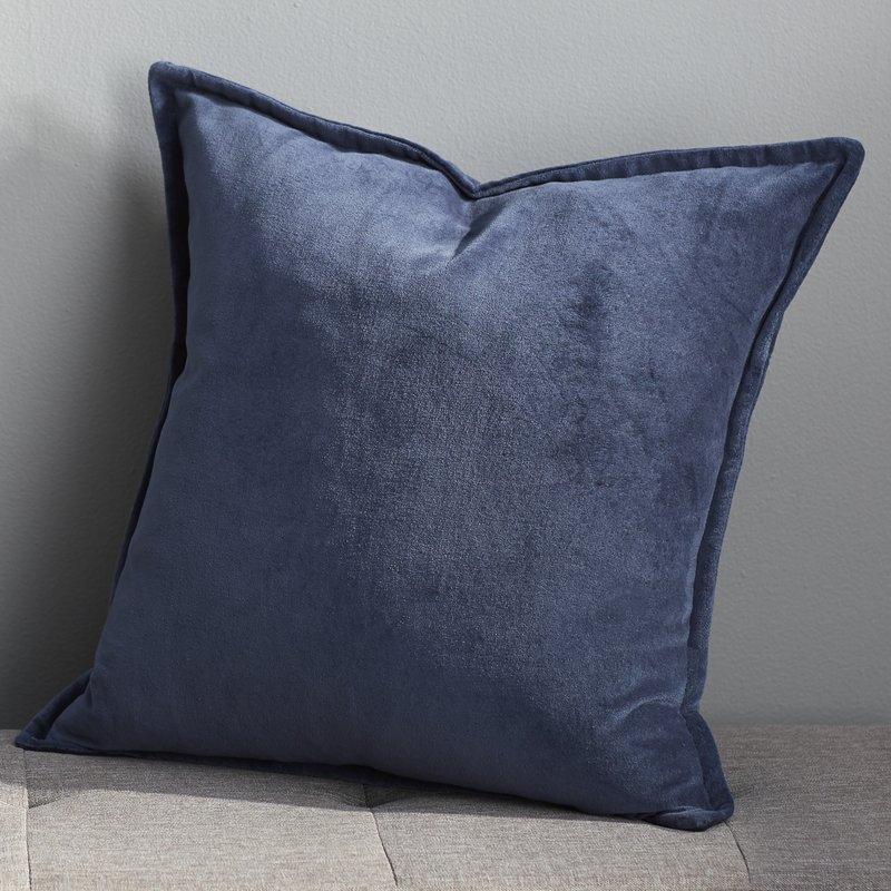 Eduarda Velvet Pillow Cover - navy - 20x20