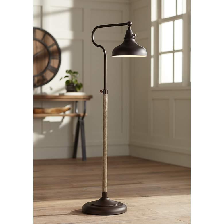 Ferris Adjustable Downbridge Pharmacy Floor Lamp - Style # 78Y25