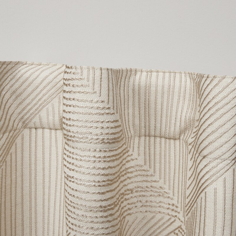 Mudd Geometric Semi-Sheer Rod Pocket Curtain Panels (Set of 2)