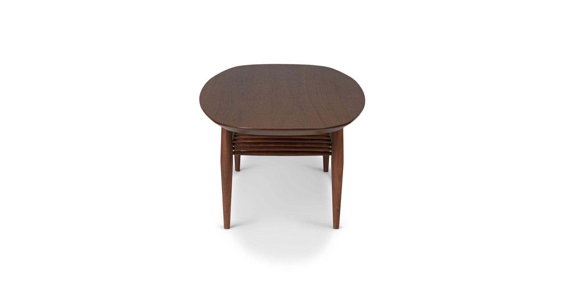 Lenia Walnut Oval Coffee Table