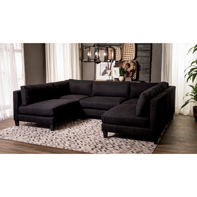 """Chelsea 120"""" Symmetrical Modular Sectional with Ottoman"""