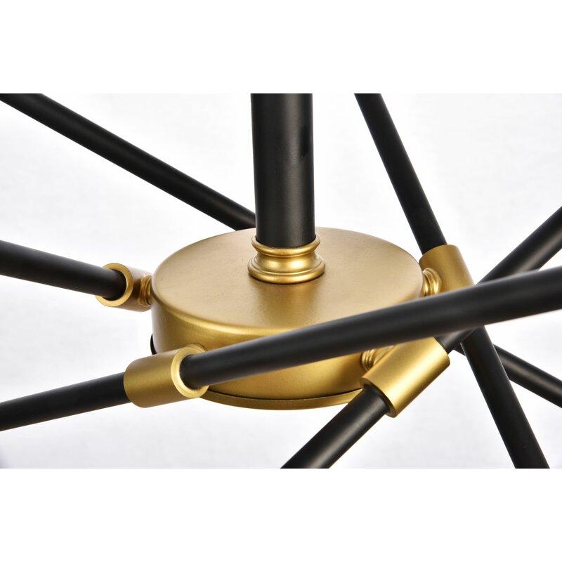 Everett 10-Light Sputnik Modern Linear Chandelier