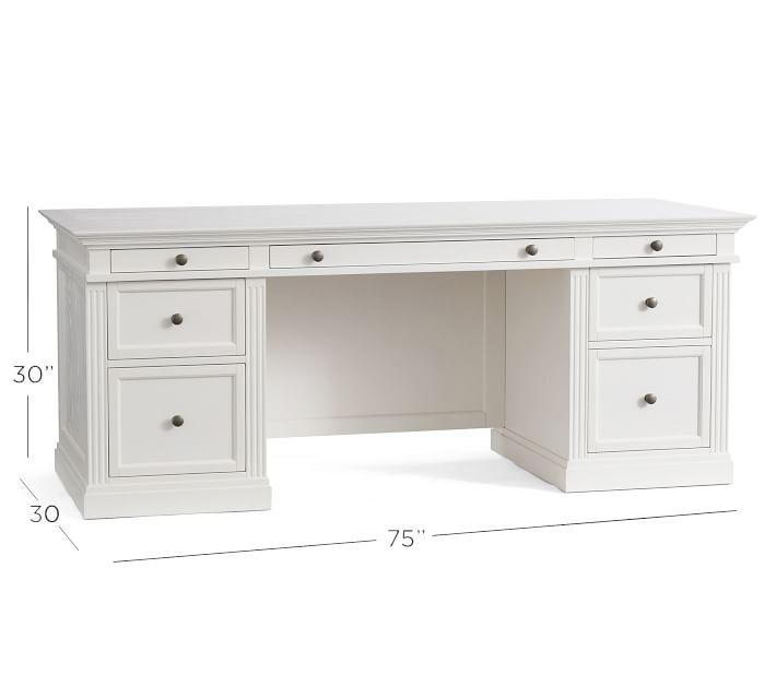Livingston Executive Desk, Montauk White