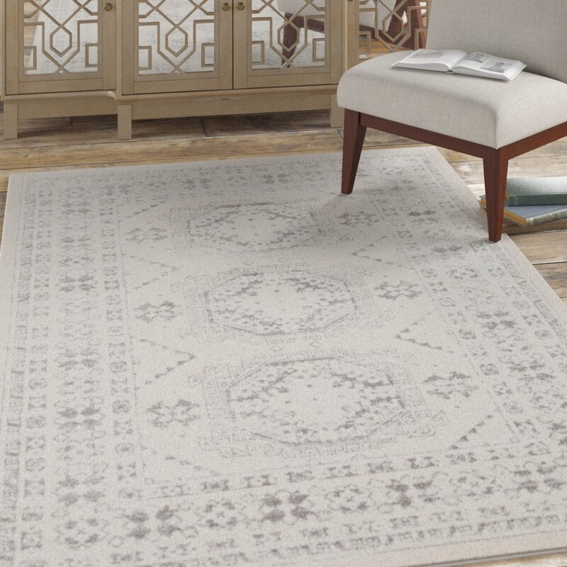 Wolbert Oriental Light Gray/Medium Gray/Khaki Area Rug