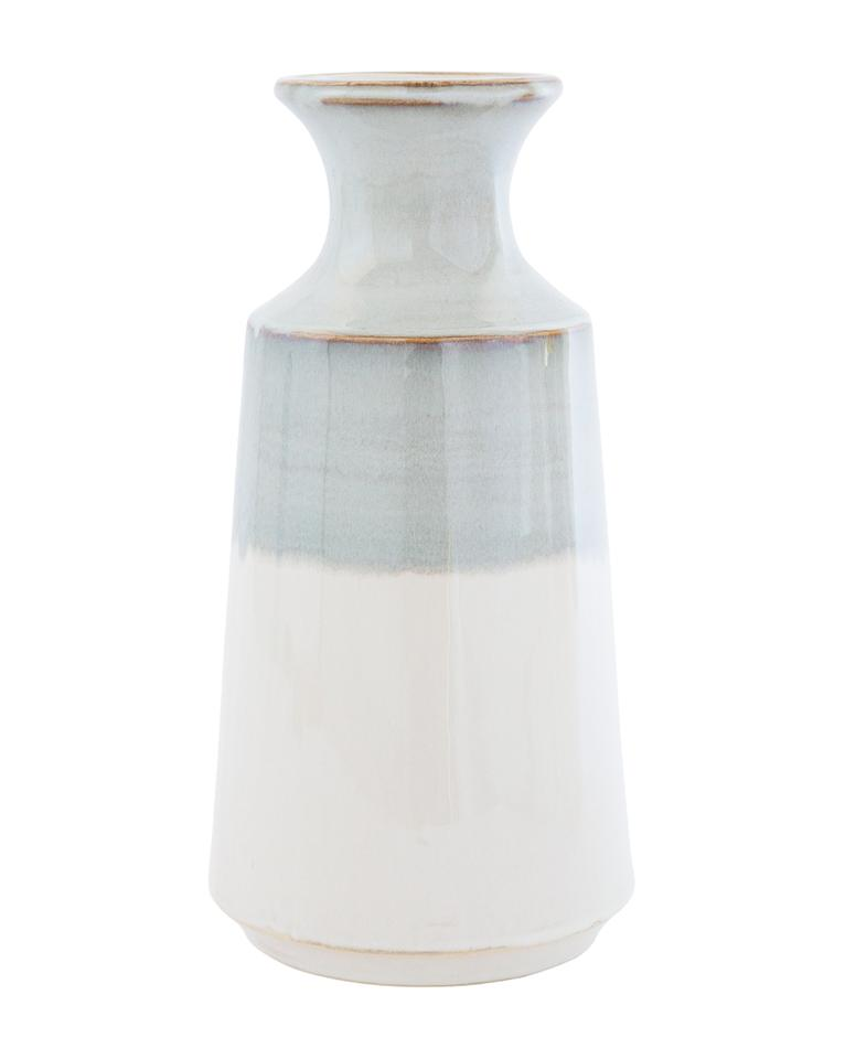 GRAY DIPPED VASE - LARGE