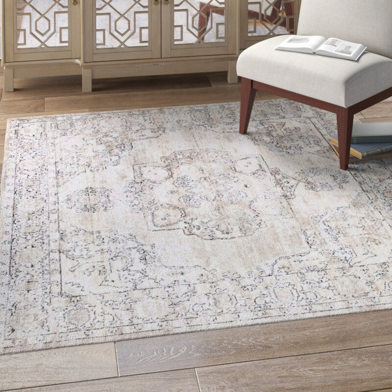 Cantey Oriental Ivory Area Rug