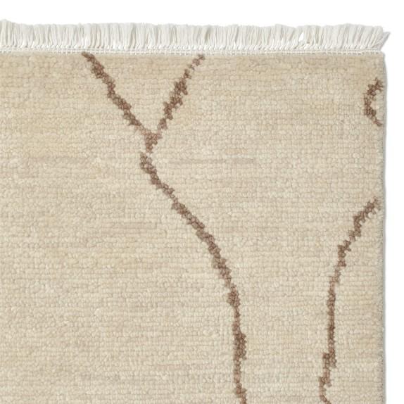 Mountain Fog Hand Knotted Rug, Ivory, Custom Size 12'x18'