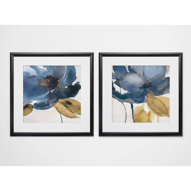 'Blue Note' 2 Piece Framed Print Set