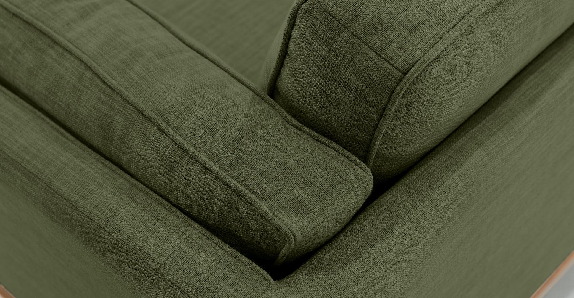 Timber Olio Green Sofa