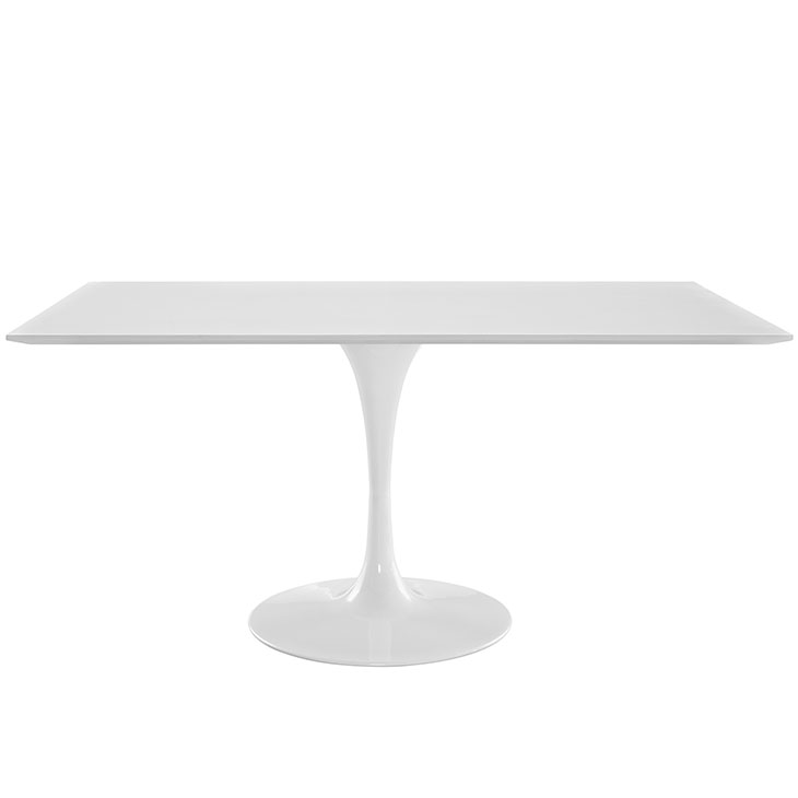 """LIPPA 60"""" RECTANGLE DINING TABLE IN WHITE"""