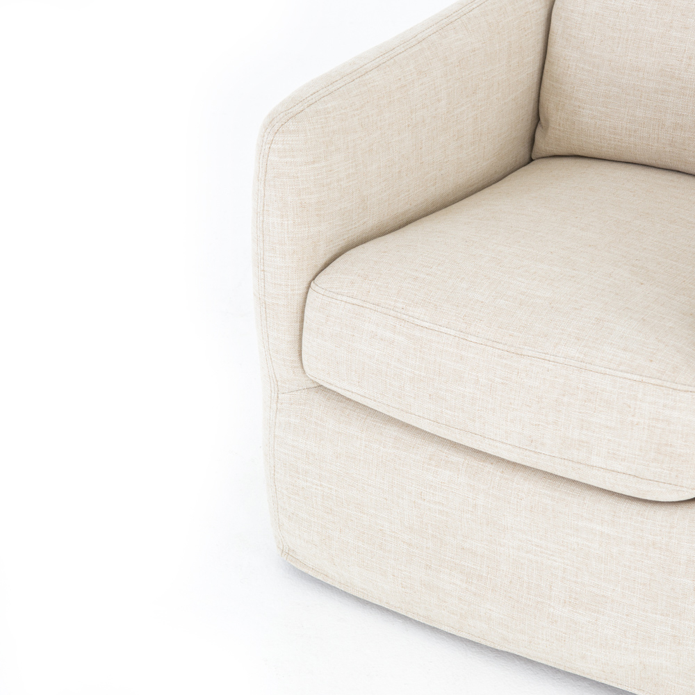 CHANDRA SWIVEL CHAIR, IVORY