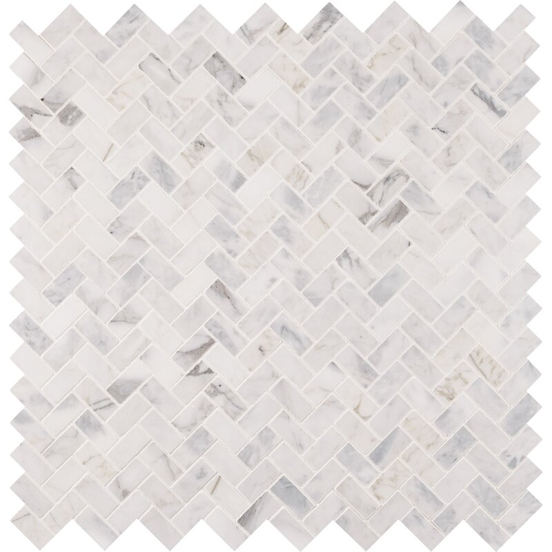 "Madeline 1"" x 2"" Marble Mosaic Tile- per box"