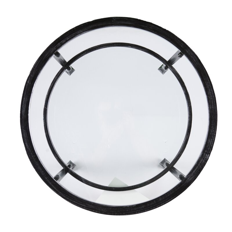 Casas Round End Table, Black