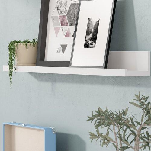 "Picture Ledge Wall Shelf- white 3.5"" H x 72"" W 4.5"" D"