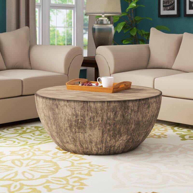 Aron Round Wood Coffee Table Wayfair, Wayfair Round Coffee Table
