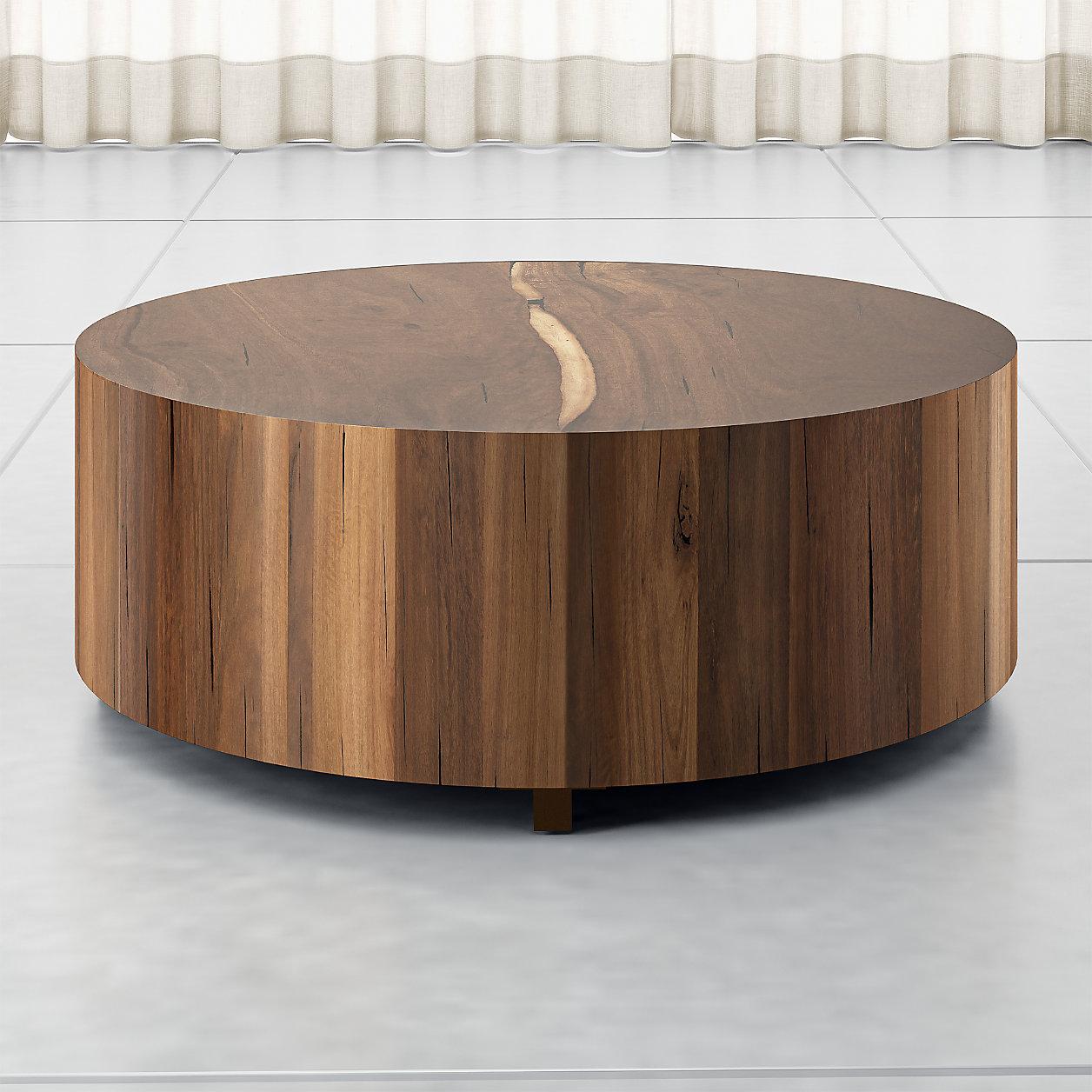Hudson Natural Yukas  Round Wood Coffee Table