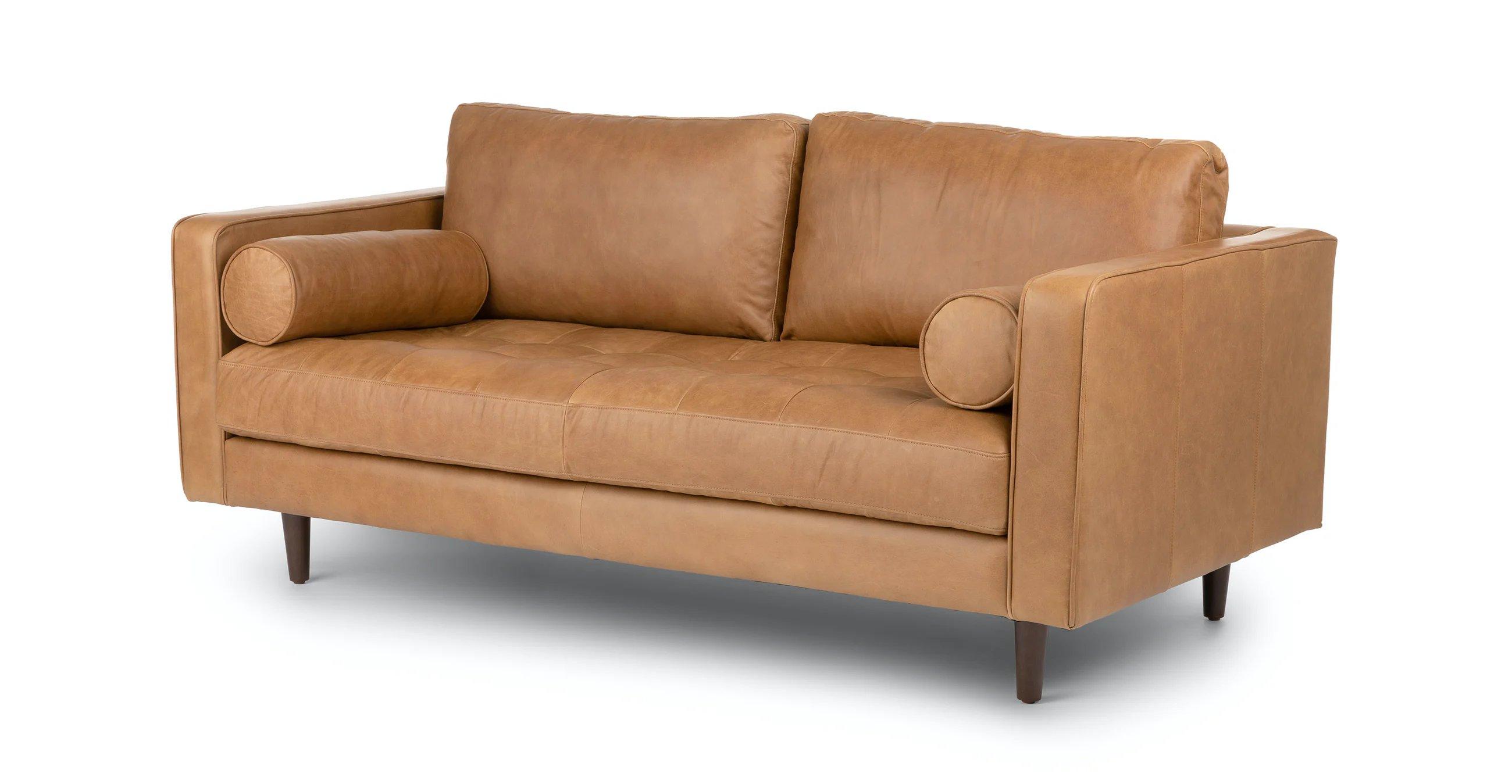 """Sven Charme Tan 72"""" Sofa"""