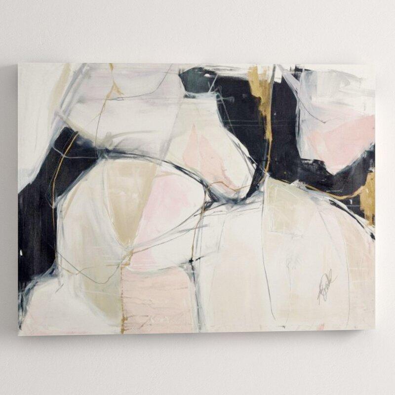"""Chelsea Art Studio 'Twombly Escape' Print Format: Gild Gold, Size: 36"""" H x 48"""" W x 2"""" D"""
