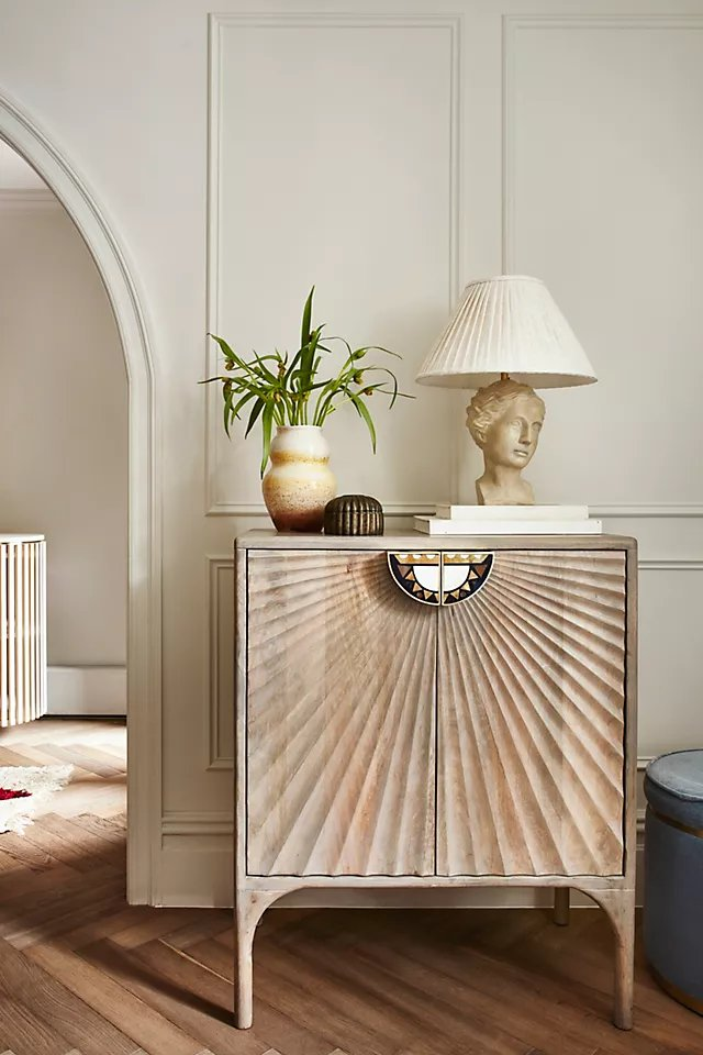 Grecian Bust Table Lamp By Anthropologie in Grey