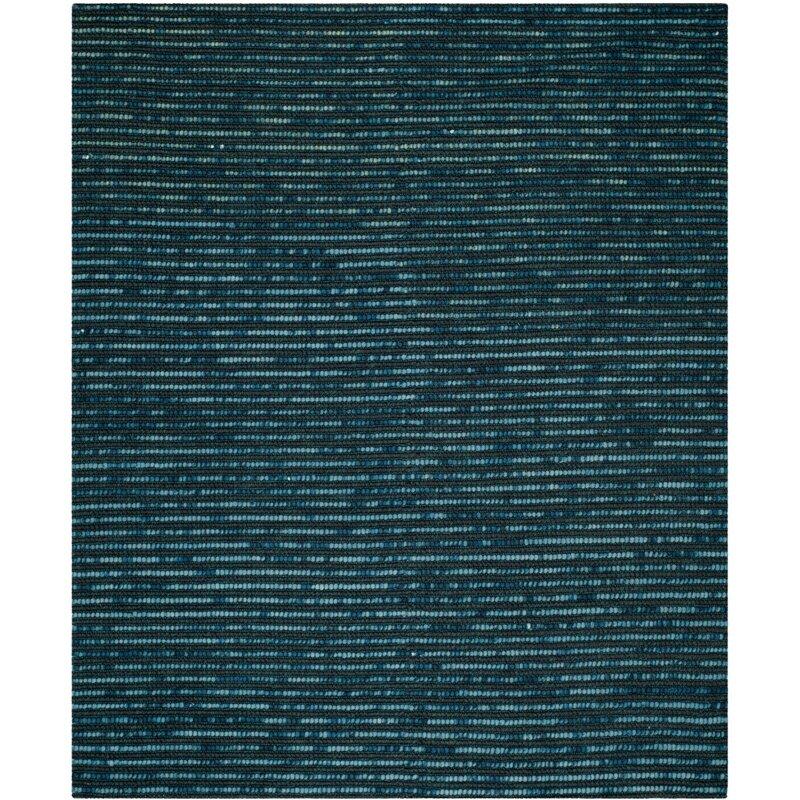 Edgar Hand-Knotted Dark Blue Area Rug