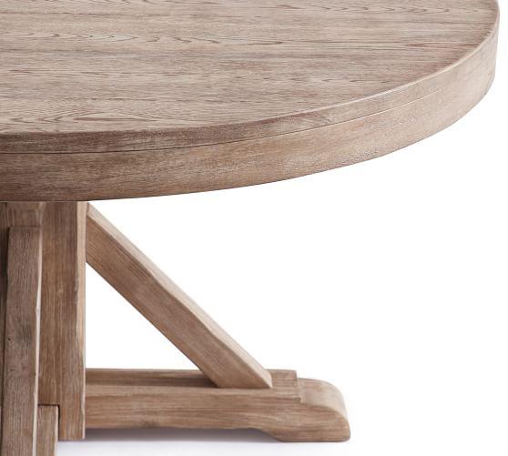 """Benchwright Extending Pedestal Dining Table, 48"""" - 72"""" L, Seadrift"""