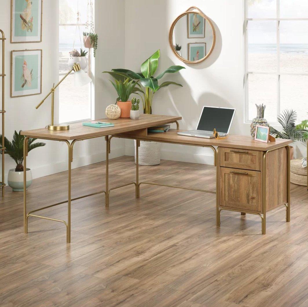 Mercury Row Hanner L-Shape Executive Desk