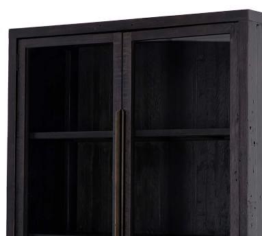 Braden Display Cabinet, Natural Oak/Satin Brass