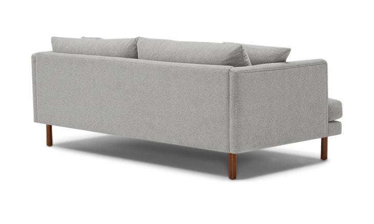 Gray Lewis Mid Century Modern Sofa - Sunbrella Premier Fog - Medium - Cone Legs