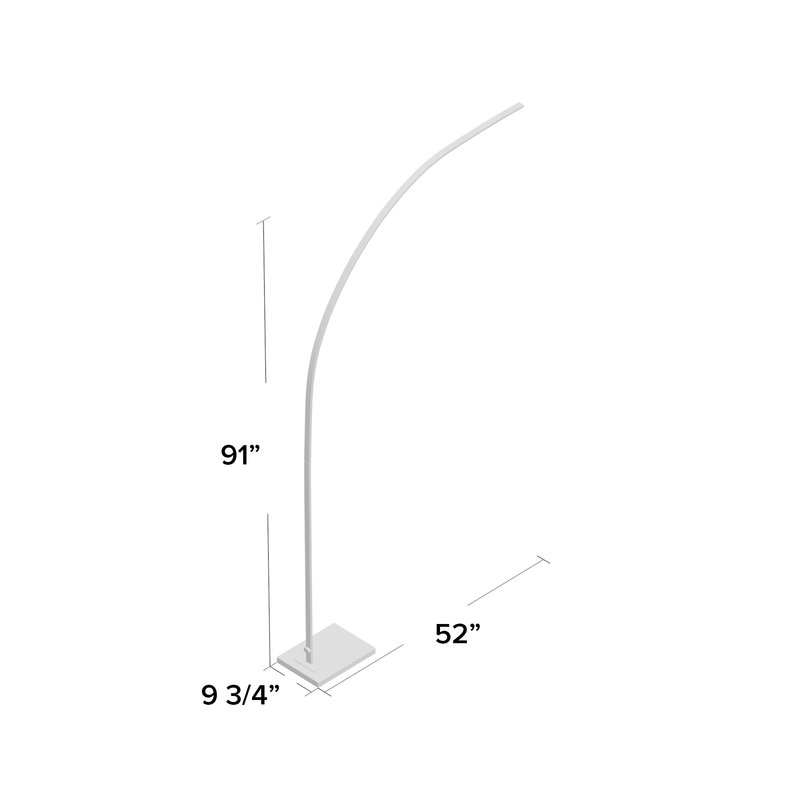 """Charley 91""""Arched Floor Lamp"""