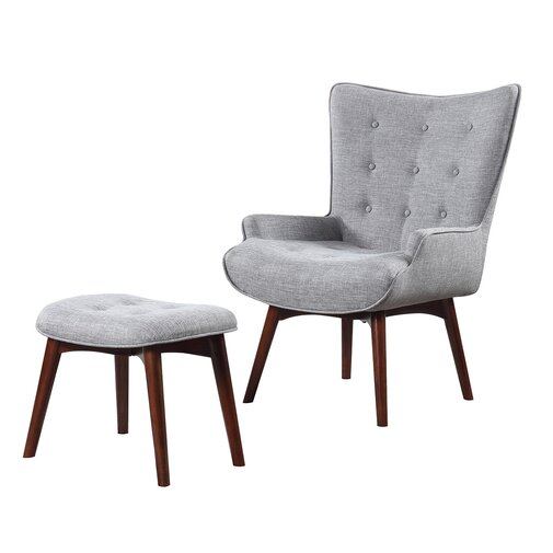 Side Chair and Ottoman