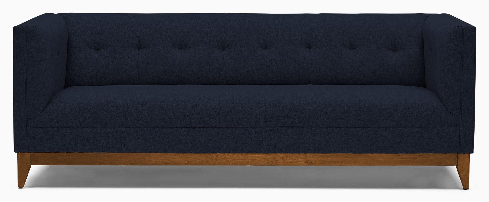 Modern Sofa - Mid Century Stowe - Sunbrella Premier Indigo - Medium - Blue