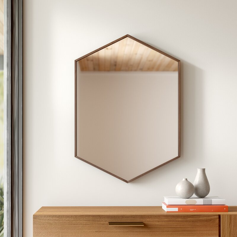 Zaliki Mid Century Hexagon Accent Mirror
