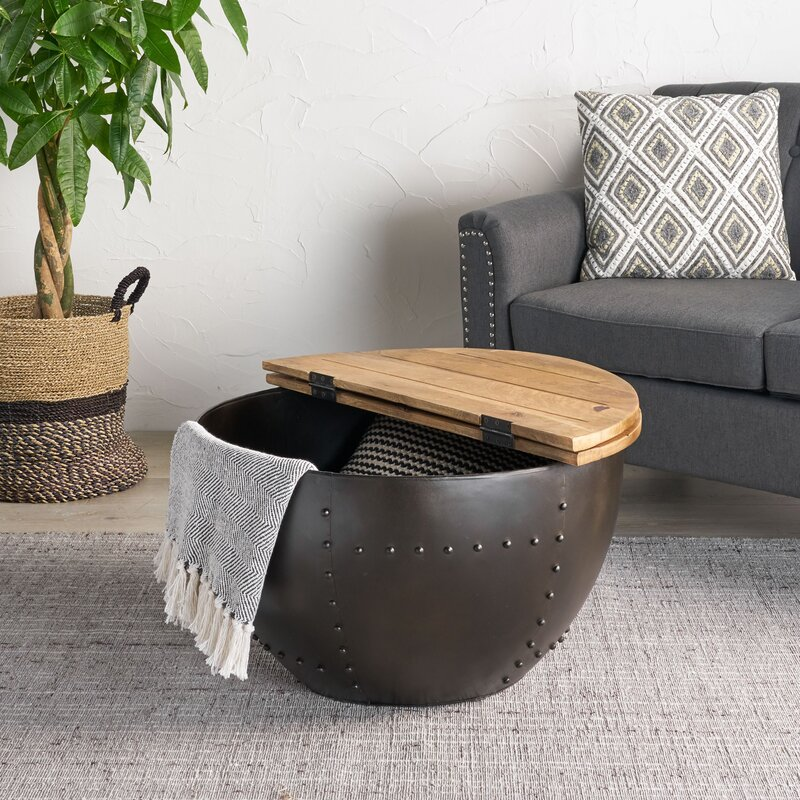 Kayden Solid Coffee Table with Storage