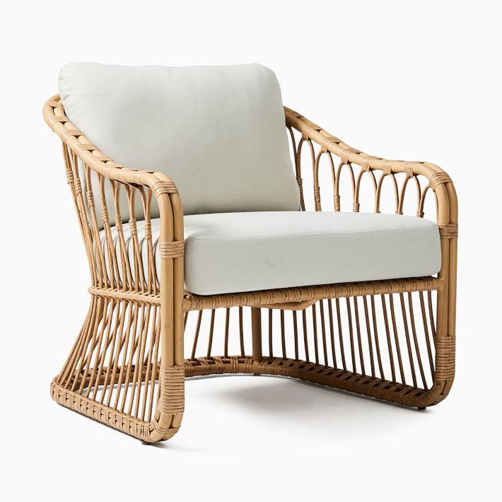 Tulum Lounge Chair, S/2, Natural Rattan