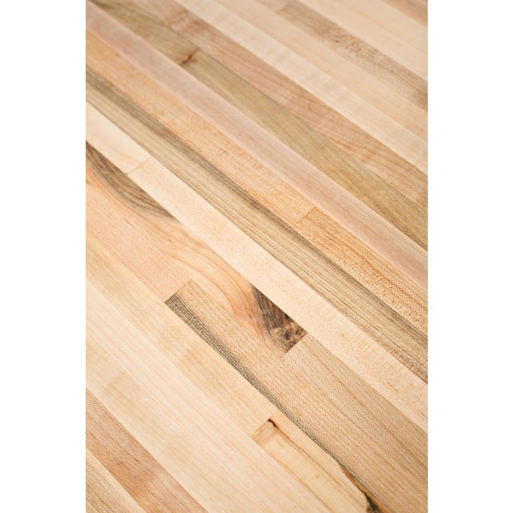 8 ft. L x 2 ft. 1 D in. x 1.5 in. T Butcher Block Countertop in Unfinished Maple