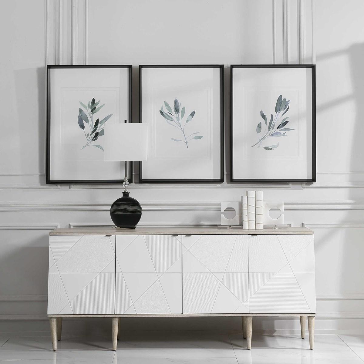 Framed Sage Prints, Set of 3