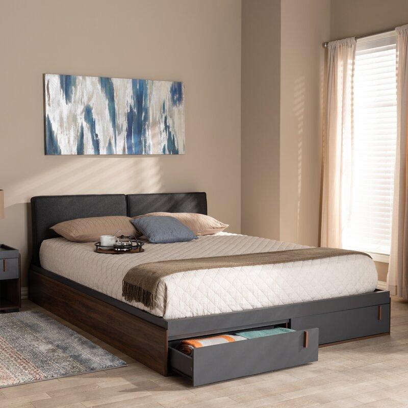 Aspatria Queen Upholstered Storage Platform Bed