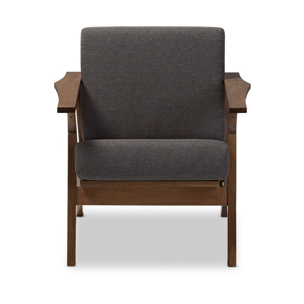 Cayla Mid-Century Modern Living Room 1-Seater Lounge Chair
