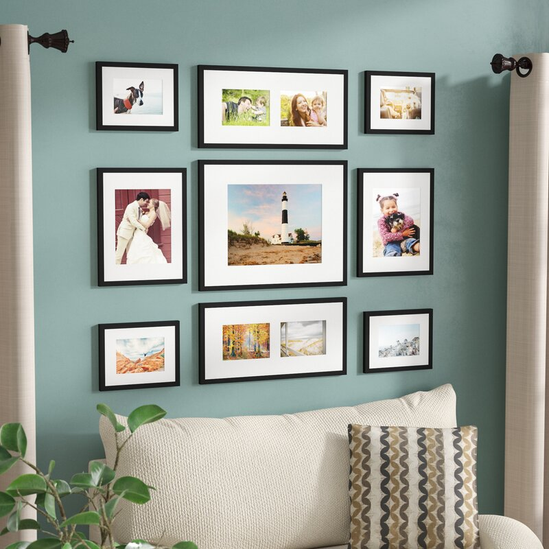 9 Piece Boulware Wood Picture Frame Set