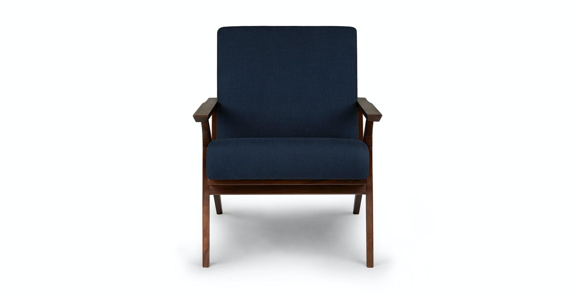 Otio Oceano Blue Walnut Lounge Chair