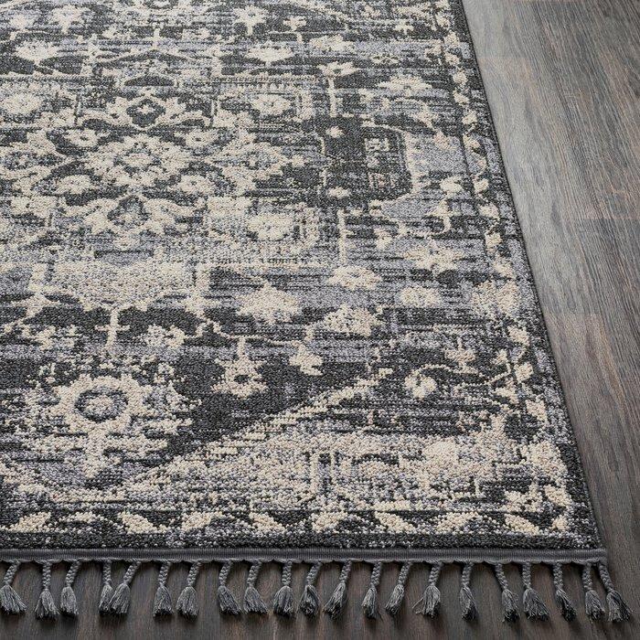 Tamika Distressed Light Gray/Charcoal Area Rug