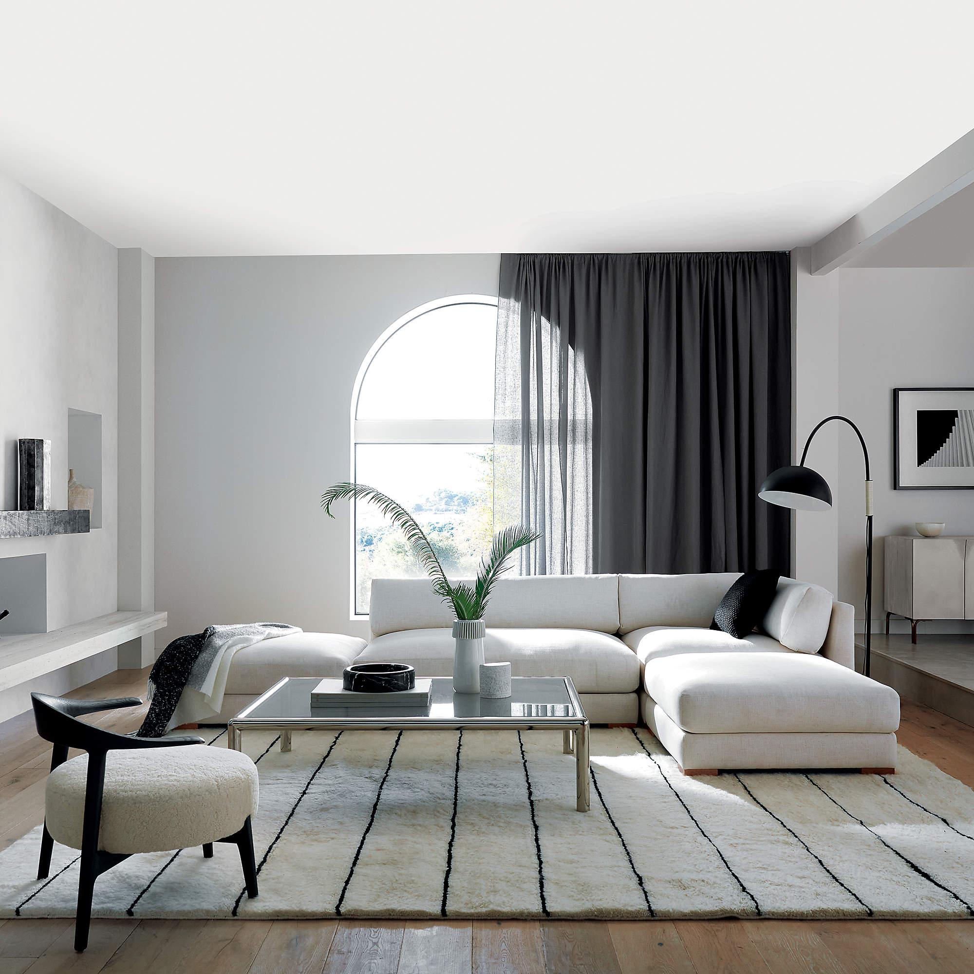 Piazza 4-Piece Modular Sectional Sofa, Snow
