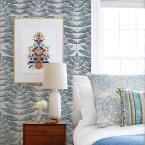 A-Street 56.4 sq. ft. Akira Navy (Blue) Leaf Wallpaper