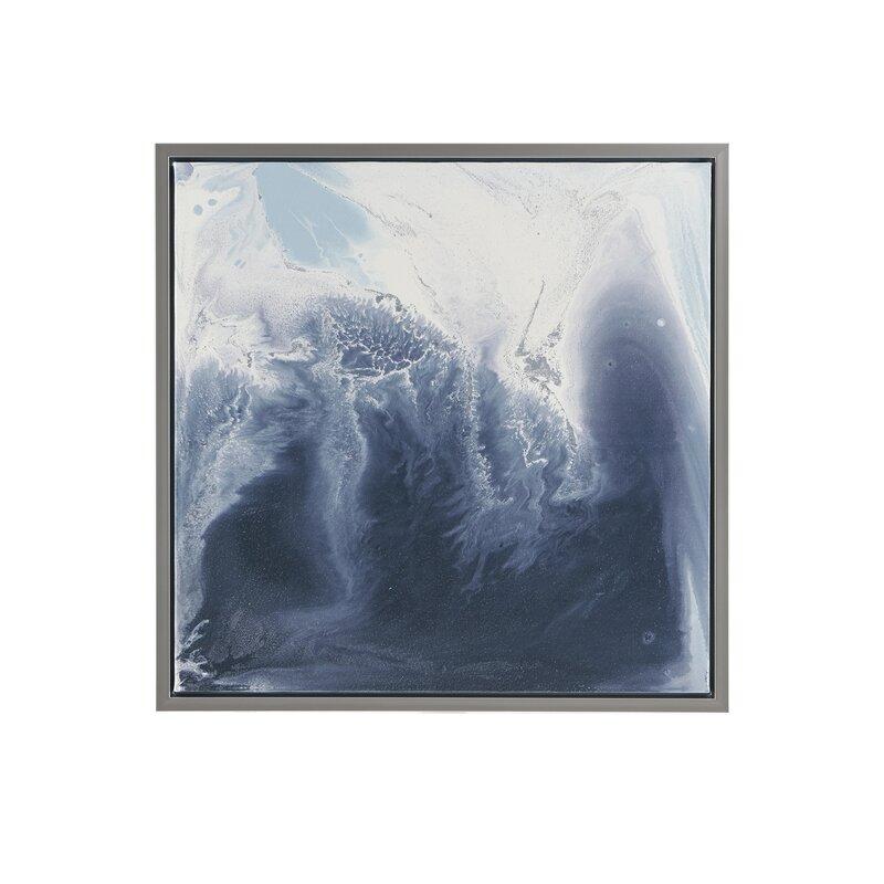 'Lagoon 2 Gel Coat' 2 Piece Framed Graphic Art Print Set on Wood in Blue