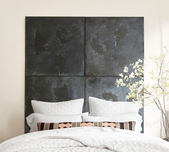 Zinc Tile Wall Decor, Distressed, Square