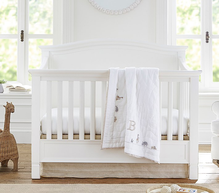 Larkin Camelback 4-in-1 Convertible Crib, Simply White, In-Home Delivery