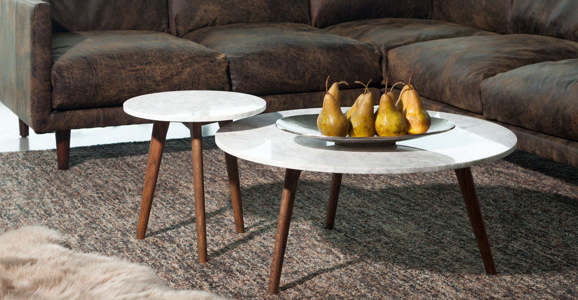 Mara Walnut Side Table