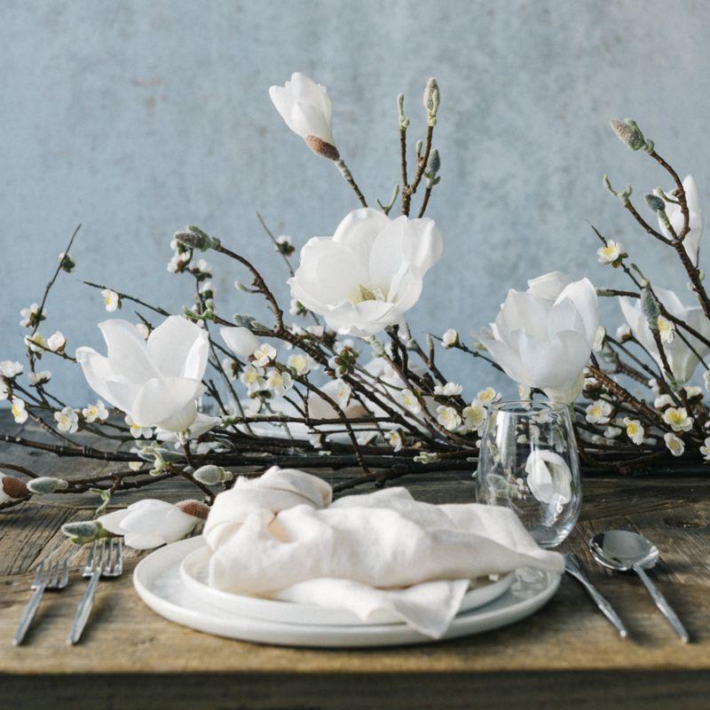 White Cherry Blossom Flower Branch