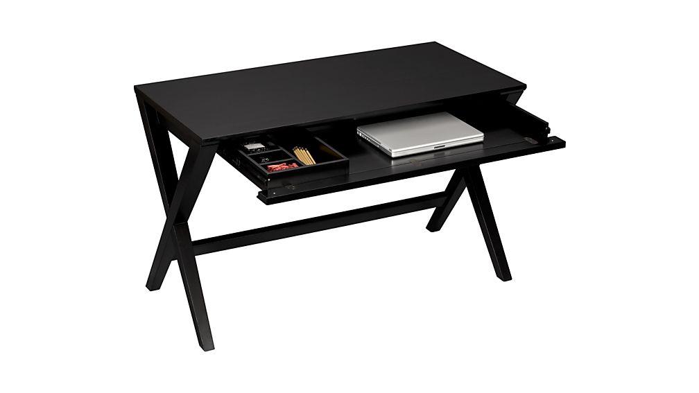"Spotlight Ebony 48"" Writing Desk - Crate and Barrel"